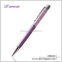 High quality metal diamond customized logo crystal pens