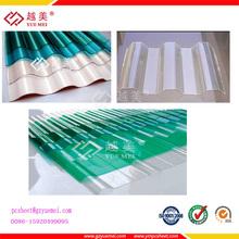 Policarbonato transparente de azulejos, policarbonato transparente de la chapa ondulada