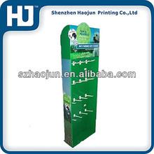 Cardboard hook display / Green Paper Cardboard Hook design for socks,silk. stockings,gloves