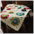 mão- de malha cobertores de lã feitas à mão tapete gancho flor flores feitiço cobertor cor sólida toalha de mesa
