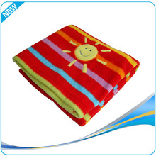 Top quality coral fleece terry cloth blanket
