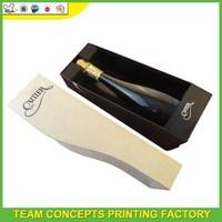 cardboard single wine bottle gift box wholesale