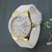 High quality Fashional Design Soft White Strap Promotional Gift Quartz Wrist Watch Wholesale