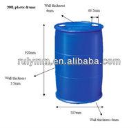Blue plastic drum 200 litre for storage water