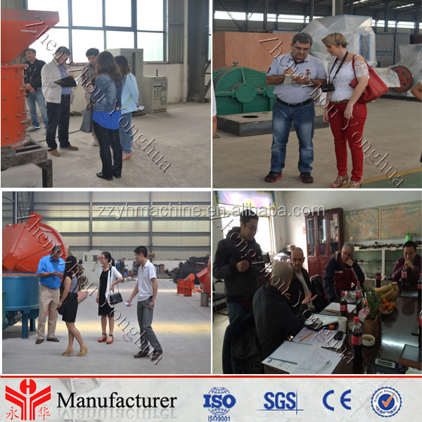 Different final briquettes shape charcoal briquetting machine coal briquetting machine price with CE