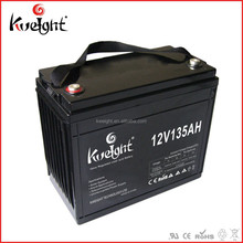 Solar system 12V 135Ah Deep cycle VRLA battery replace for LiFePO4 battery