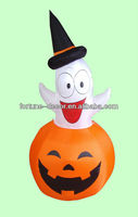 150cm Halloween inflatable pumpkin with ghost inside