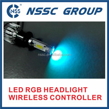 RGB LED headlight with wireless remote controller led RGB angel eyes