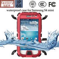Redpepper-case Waterproof Shockproof Aluminum Glass Metal Case for Samsung Galaxy S4 Mini