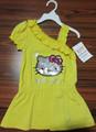 Color amarillo pretty girls falda / ropa para niños / bebés ropa