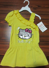Yellow color pretty girls skirt/children clothing/baby girls clothes