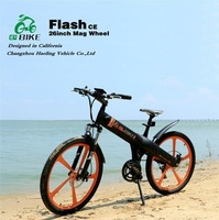 Flash,Cool mag wheel 250W electric chopper bicycle with battery box