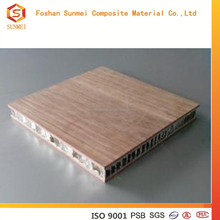 Durable real wood veneer aluminum honeycomb sandwich panel for furniture