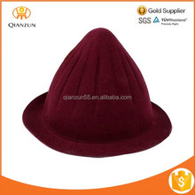 Fashion Wool Beanie Felt Pillbox Warm Women Felt French Hat 6 Color
