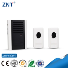 ZTP-83 2V1,two transmitters&one receiver,led indicator,3 or 32 loud music,current,mp3 piano musical wireless doorbell