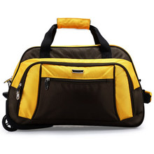 Guangzhou manufacturers foldable nylon trolley luggage travel bags