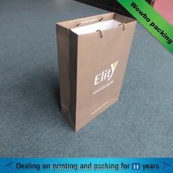 Brown cotton handle foldable shopping bag