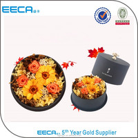 2015 New arrival flower decor large round cardboard gift boxes