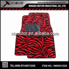 lf Good quality and style decorative Zebra car mats,All sorts of color of floor mats