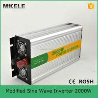 MKM2000-122G convert modified sine wave pure sine wave power inverter 2000w tbe inverter with inverter fan