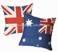 Decorative sofa cushion, Flag Fashion Luxury,Linen Fabric Large Digital Print Cushion Covern Throw Pillow Case