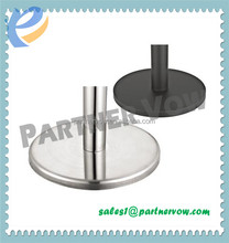 Queue Stanchion Rubber Sign weighted Base