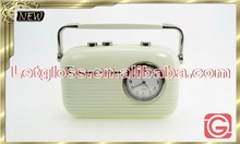 Specialized zinc alloy Retro radio alarm designer Clock