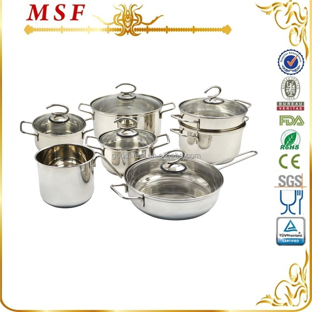 12pcs french style stainless steel cookware kitchen ware for Buy kitchen cookware
