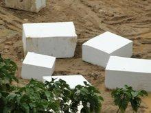 pure white limestone chips