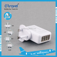 4 port usb wall charger for iphone ipad