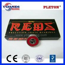 Made in china bone ceramic red bearing skateboard bearing bones reds bearings 608