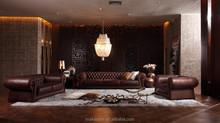 2015 modern italian leather chesterfield sofa HD288 in foshan