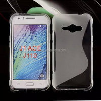 Mobile accessories S line glossy TPU soft back cover case cell phone case for samsung galaxy j1 ace factory price