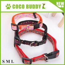 S , M , L 3 sizes Ribbon Nylon Pet Collar , OEM