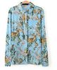 Hot selling hawaiian shirt ladies trendy tops and blouses floral shirt