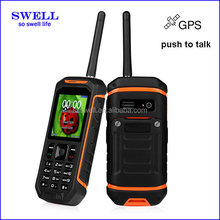 SWELL 2.4inch walkie talkie phone Color Display Color and Bar Design unlocked rugged waterproof mobile phone X6