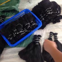 virgin cheap double drawn human hair material raw bulk hair double drawn hair bulk indian hair bulk