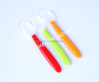 silica gel baby soft head spoon silicone feeding utensils baby spoons baby tableware food supplement rice cereal scoop