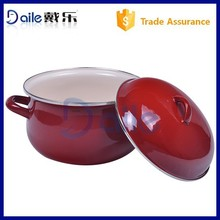 5pcs wonderful Red Chinese Enamel cookware Pot Set Enamelware Stew Pot