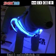 2015 New Product LED Flashing Light Dog Harness&Dog LED Collars And Leashes&Adjustable LED Flashing Light Up Harness
