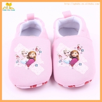 New arrival fashional cartoon character pink cotton baby infant girl shoes