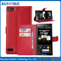 Leather wallet case for blackberry z3