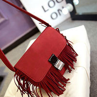 E872 alibaba china new Winter products trendy hobo suede fringe bags