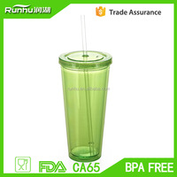 Best-selling food grade customized logo plastic coffee cups with lid RH109-16