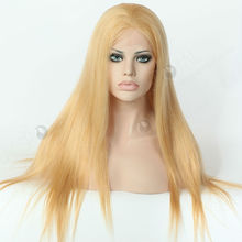 long straight blonde human hair wigs white women,613/27 Color Full Lace Wig