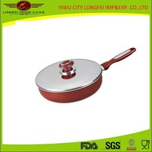 Kitchenware Red color Aluminum Tensile Wok