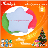 2015 White Christmas decorations star sponge wholesale product XMAS-029