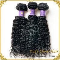 Original human hair extension natural black deep curly weave double weft virgin indian hair