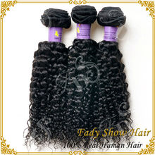 Original human hair extension natural black deep curly weave double weft virgin indian hair