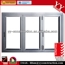 Aluminium Folding Window with Double Toughed Glass and Australian Standard